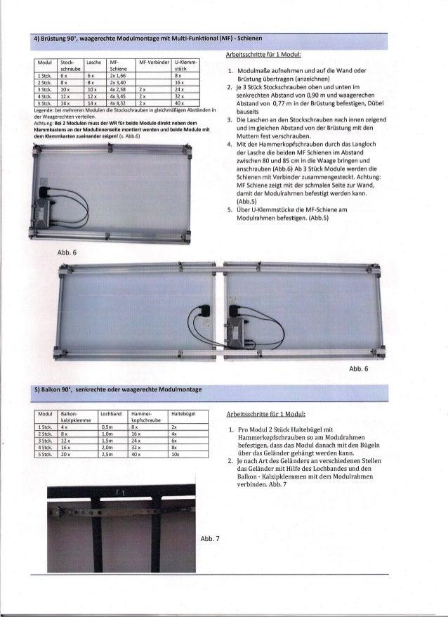 Stückliste Plug In System S-I-Z
