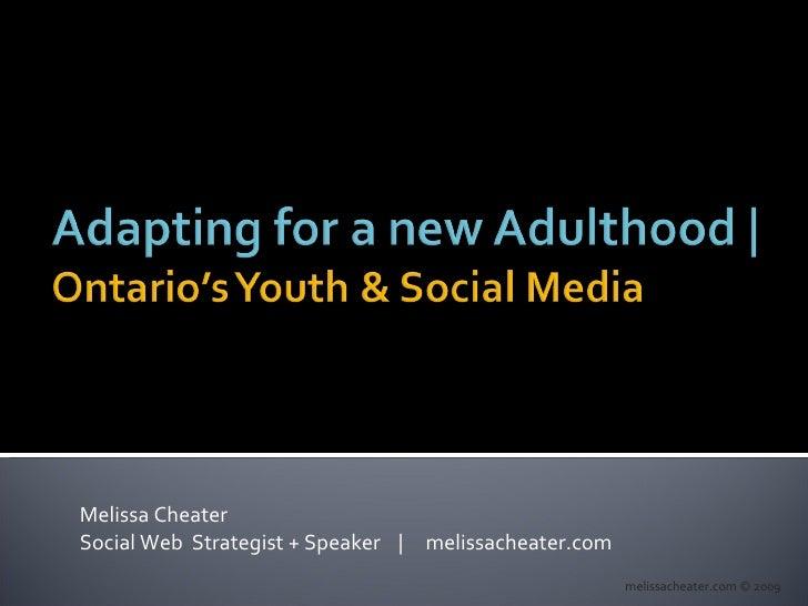 Melissa Cheater Social Web  Strategist + Speaker  |  melissacheater.com