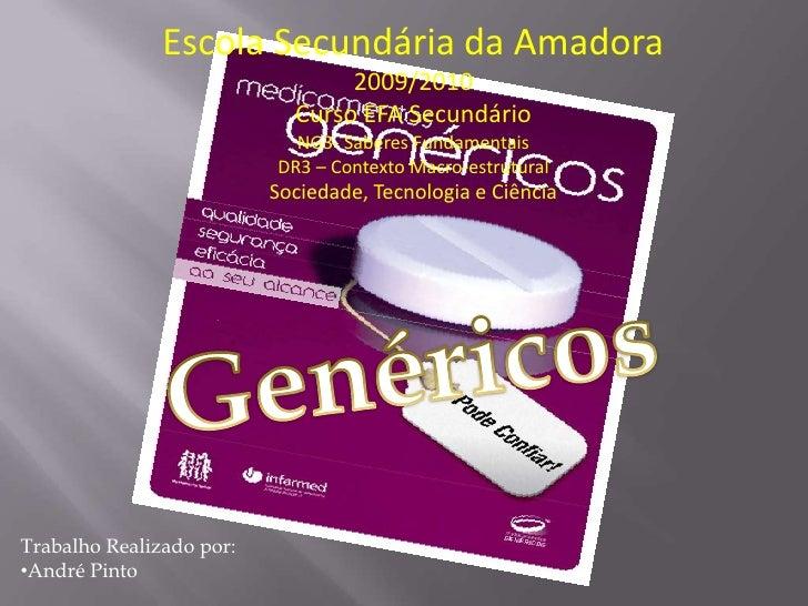 Escola Secundária da Amadora<br />2009/2010<br />Curso EFA Secundário<br />NG3- Saberes Fundamentais<br />DR3 – Contexto M...