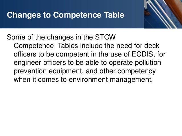 Stcw manila amendments a quick maritime guide ctsi for Table a vi 6 2 of the stcw code