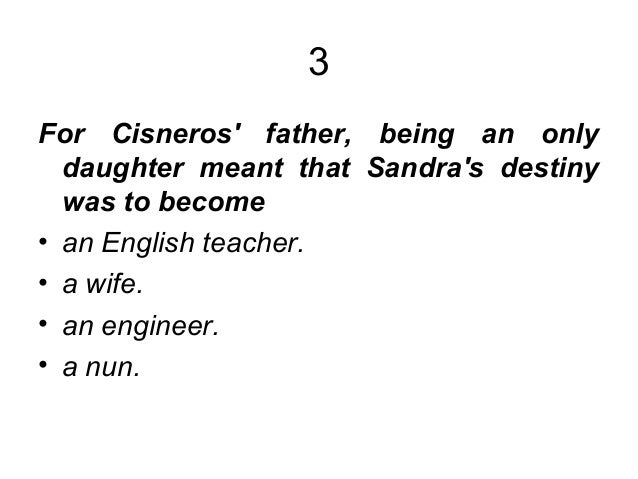 contrast only daughter by sandra cisneros