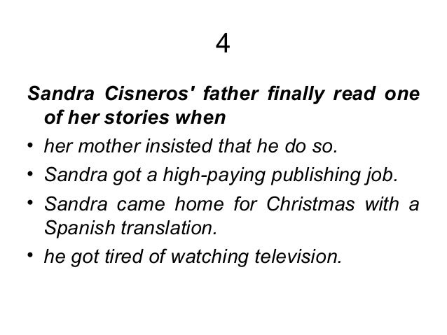 Only daughter essay by sandra cisneros