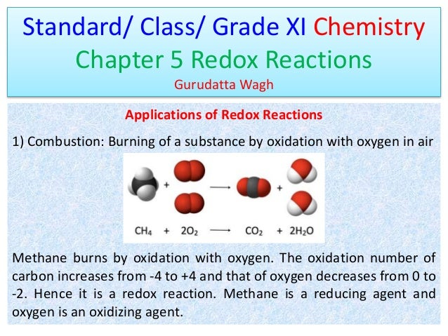 Std XI-Chapter-5-Redox-Reactions-Applications