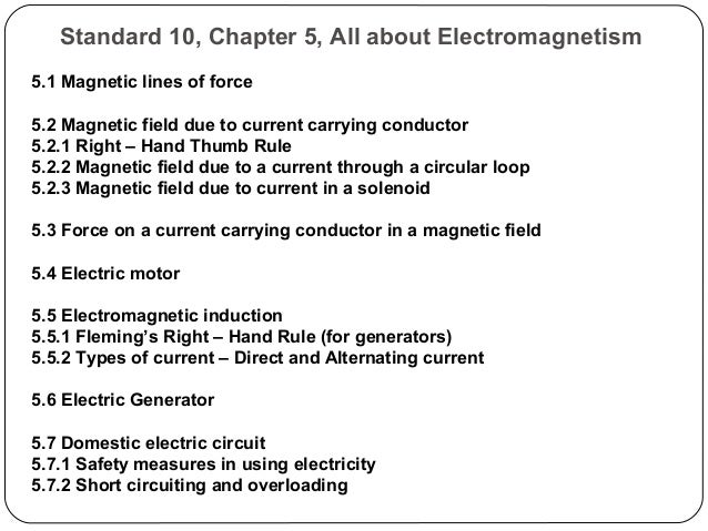 Std 10 - Electromagnetism