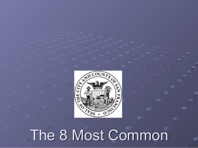 The 8 Most Common