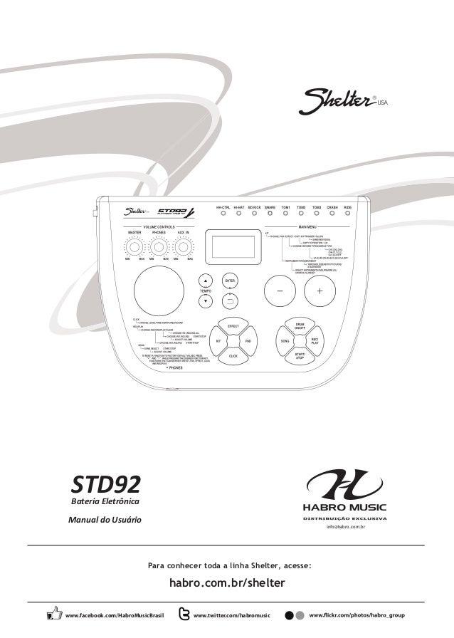 Manual da Bateria Eletrônica Shelter STD92 (PORTUGUÊS)