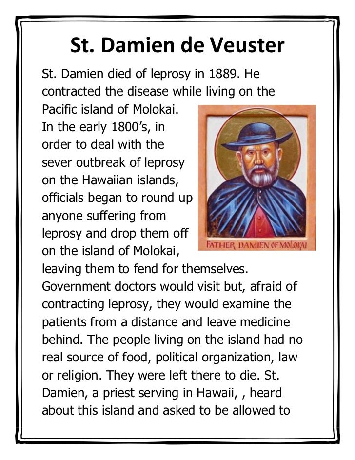 152400-301271St. Damien de Veuster00St. Damien de Veuster<br />342201586677500St. Damien died of leprosy in 1889. He contr...