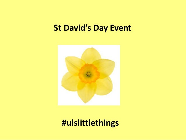 St David's Day Event #ulslittlethings
