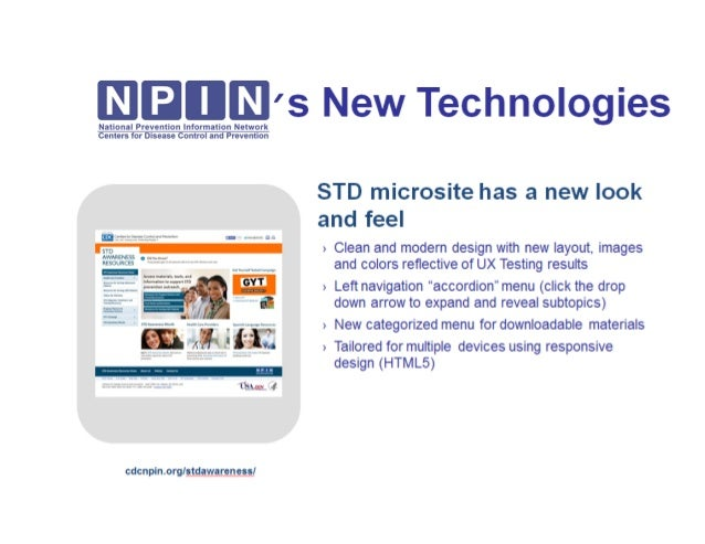 NPIN's New Technology Coming Soon:STD Awareness Microsite