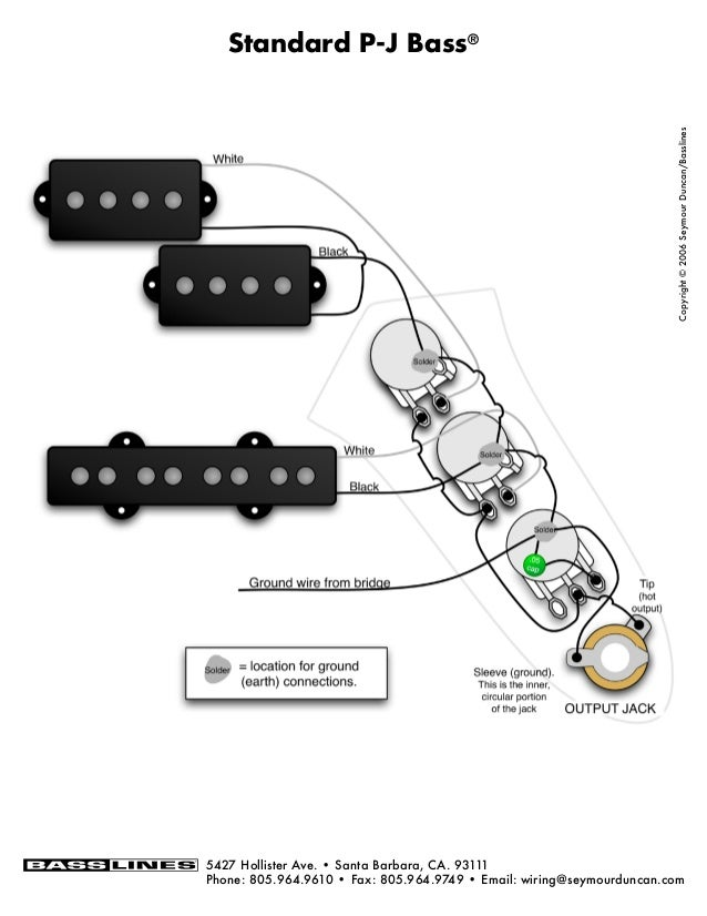 Bass Wiring Diagram 2 Volume 2 Tone