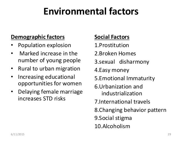 Sexually transmitted diseases social factors in education