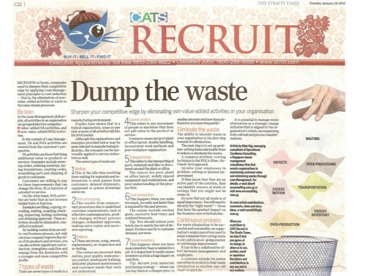"""""""Dump the waste"""" by Allan Ung, Operational Excellence Consulting"""