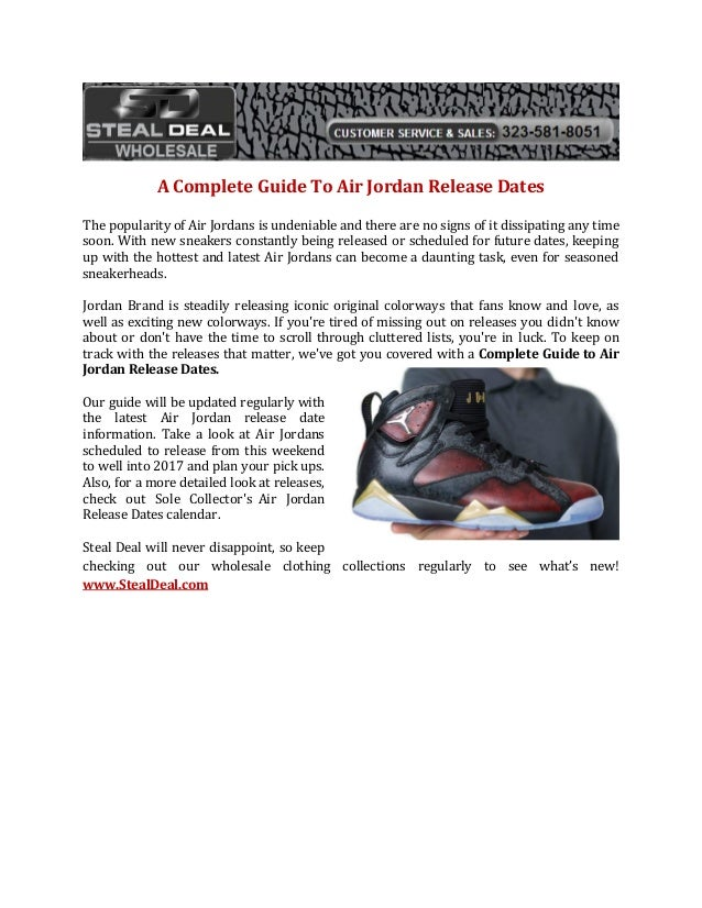 d9c3d4259fd A Complete Guide To Air Jordan Release Dates The popularity of Air Jordans  is undeniable and