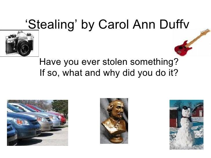 essay on stealing by carol ann duffy
