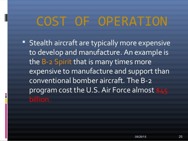 Stealth planes for Operation stealth