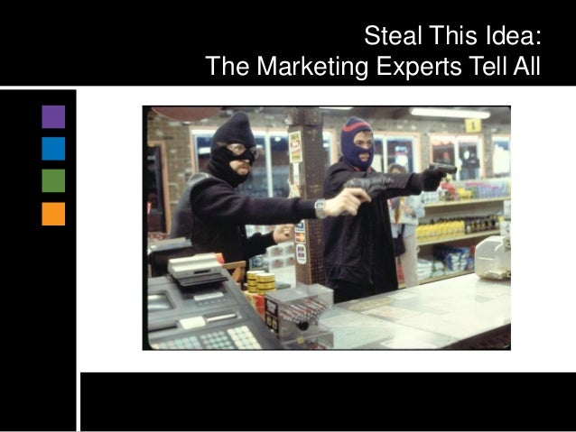 Steal This Idea:The Marketing Experts Tell All