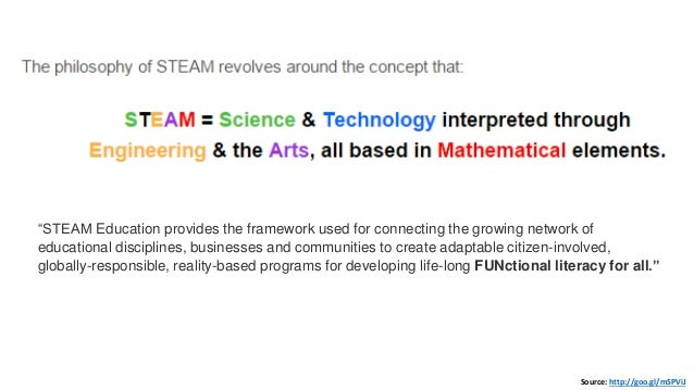 """Source: http://goo.gl/mSPViJ """"STEAM Education provides the framework used for connecting the growing network of educationa..."""