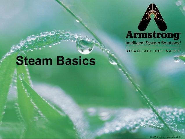©2008 Armstrong International, Inc. Steam Basics