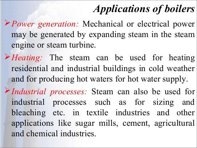 Steam Boilers OR Steam Generators