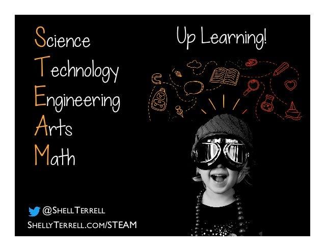 Science Technology Engineering Arts Math SHELLYTERRELL.COM/STEAM @SHELLTERRELL Up Learning!