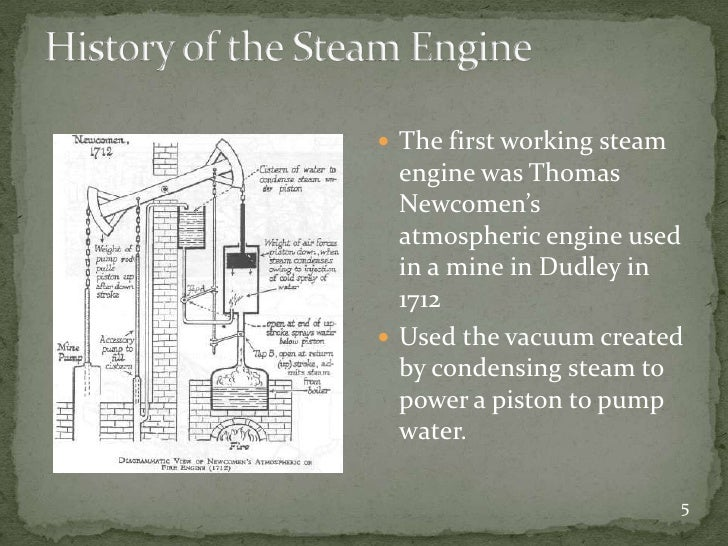 Steam engine essay