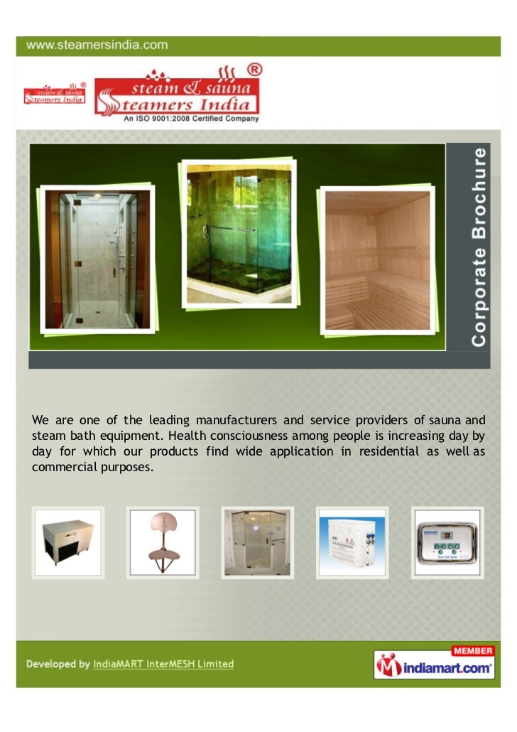 We are one of the leading manufacturers and service providers of sauna andsteam bath equipment. Health consciousness among...