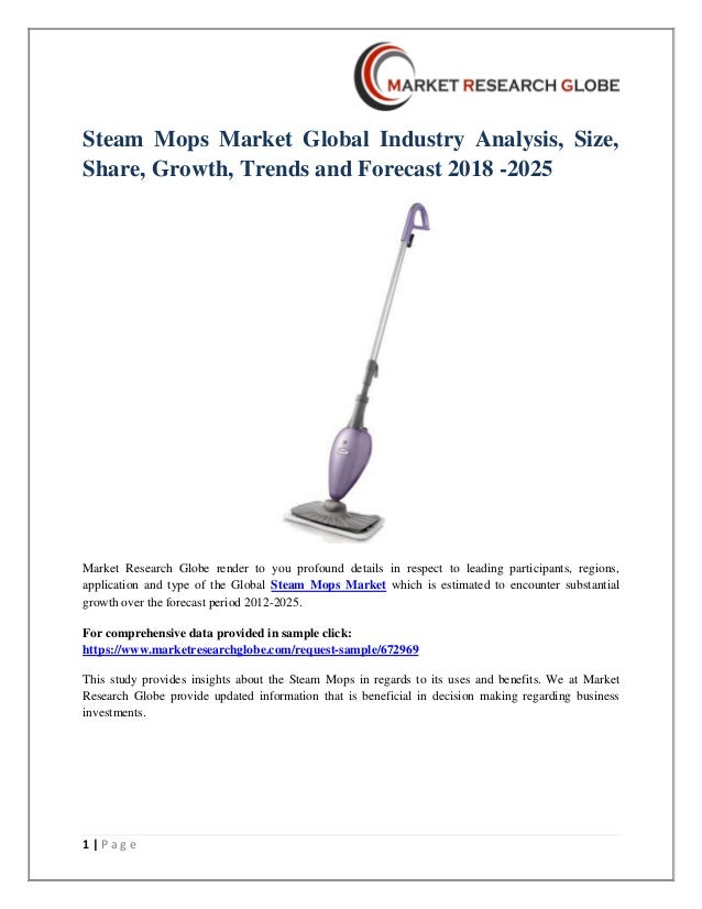 Steam mops market global industry analysis, size, share