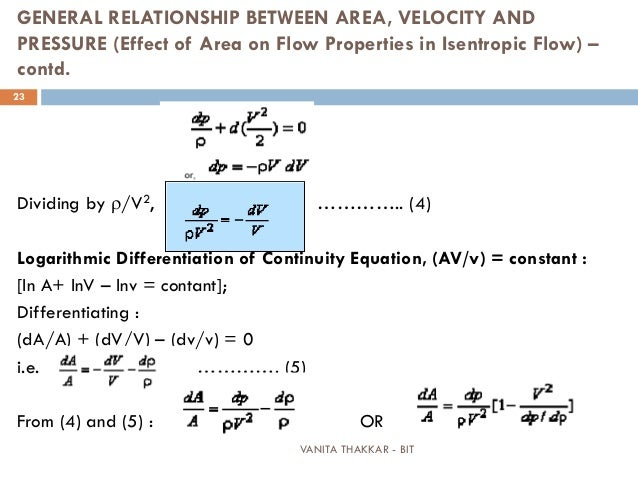relationship between pressure and flow velocity conversion