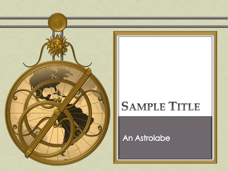 steampunk powerpoint 2010 template