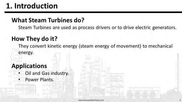 Steam Turbines presentation on Types, Classification and governing Equations Slide 3