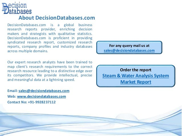 Analysis on Global Steam & Water Analysis System Market Report 2016-2…