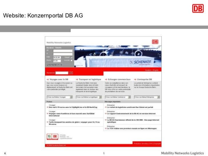 Website: Konzernportal DB AG