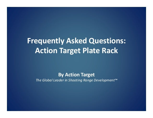 2. Frequently Asked Questions Action Target Plate Rack ...  sc 1 st  SlideShare & Steel plate-rack