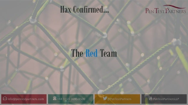 Hax Confirmed… The Red Team