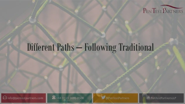 Different Paths – Following Traditional