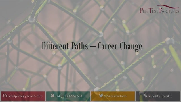 Different Paths – Career Change