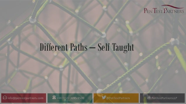 Different Paths – Self Taught