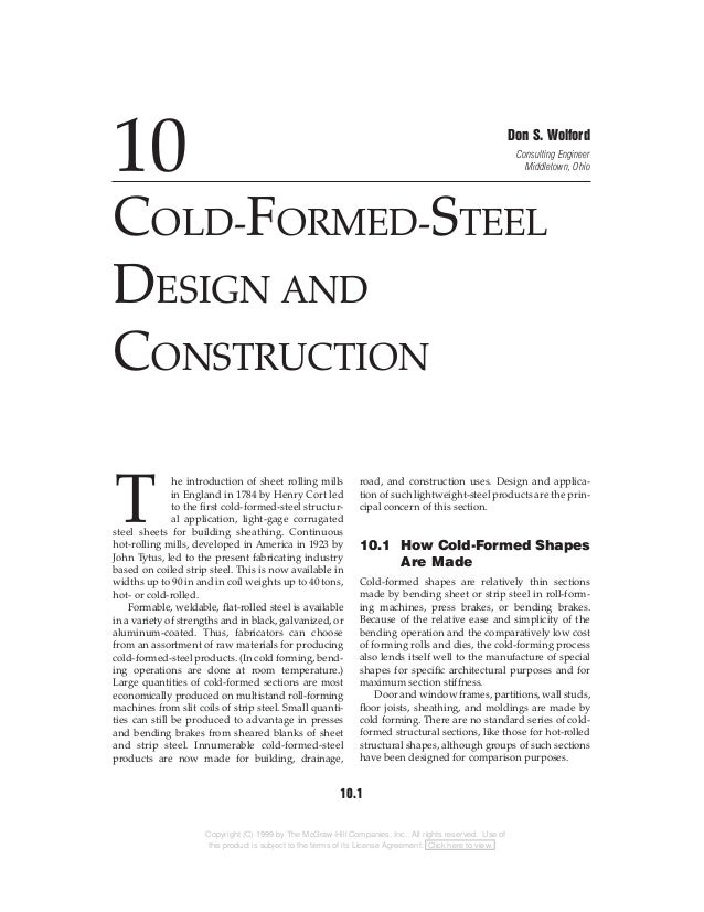 Cold-Formed-Steel Design And Construction ( Steel Structure )