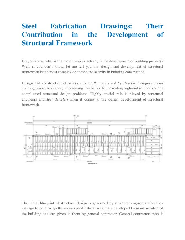 Steel Fabrication Drawings: Their Contribution in the Development of …