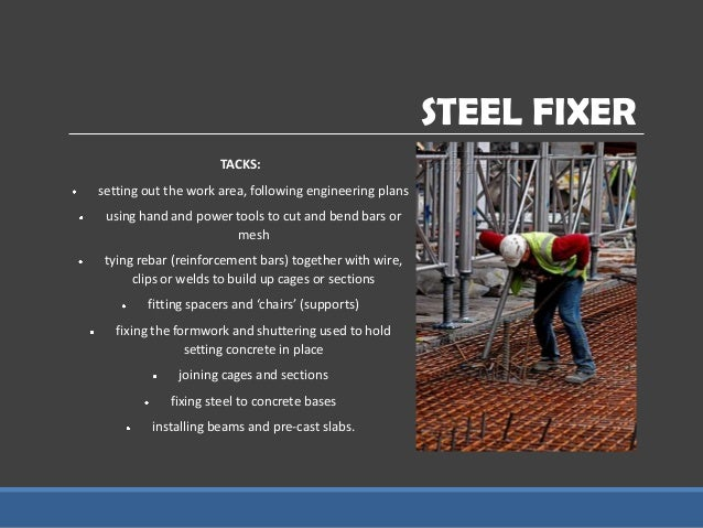 Nature Of A Steel Fixer S Job