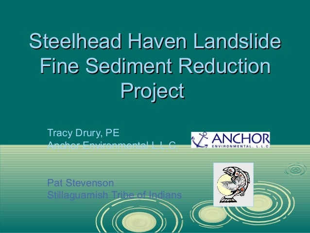 Steelhead Haven Landslide Fine Sediment Reduction Project Tracy Drury, PE Anchor Environmental L.L.C.  Pat Stevenson Still...