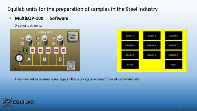 Steel sample preparation