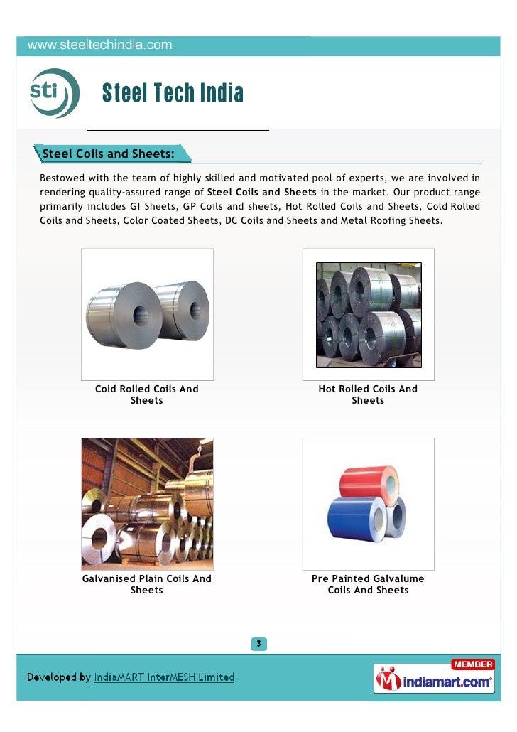 Steel Tech India, Chennai, Array of Steel Slide 3