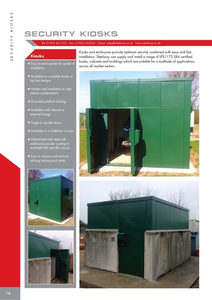 13; 14. K I O S K S SECURITY KIOSKS S E C U R I T Y ...  sc 1 st  SlideShare & Steelway Utility Services Product brochure