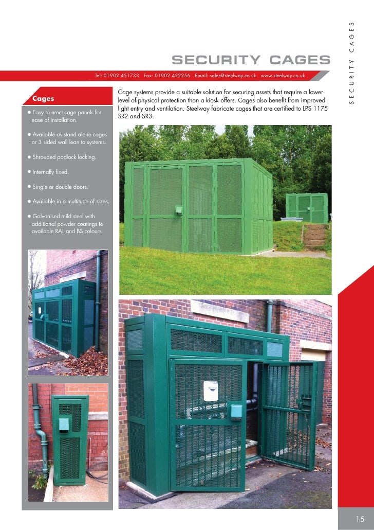 ... S E C U R I T Y Tel 01902 451733 Fax 01902 452256 Email sales@ steelway.co.uk .steelway.co.uk Cage systems provide a ...  sc 1 st  SlideShare & Steelway Utility Services Product brochure