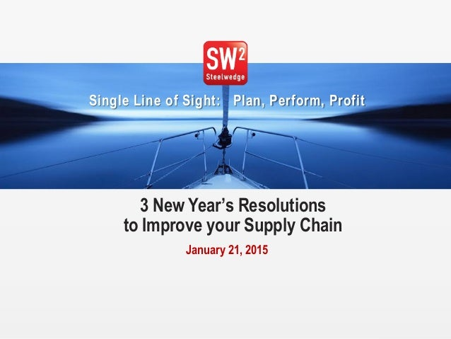 1© 2015 Steelwedge Software, Inc. Confidential. Single Line of Sight: Plan, Perform, Profit 3 New Year's Resolutions to Im...