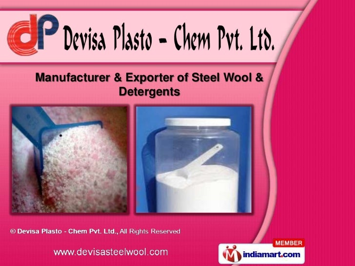 Manufacturer & Exporter of Steel Wool &              Detergents