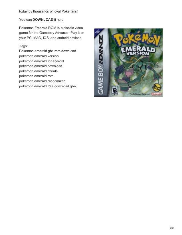 pokemon esmerald download gba