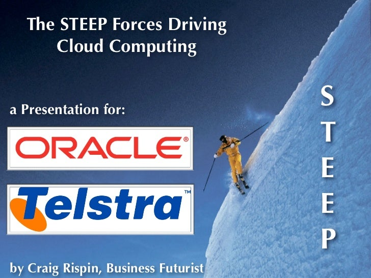 The STEEP Forces Driving      Cloud Computing   a Presentation for:                                      S                ...