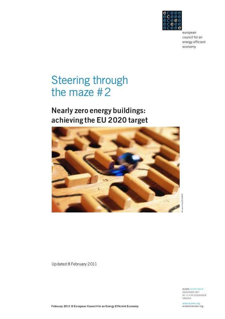 Steering throughthe maze #2Nearly zero energy buildings:achieving the EU 2020 target                                      ...